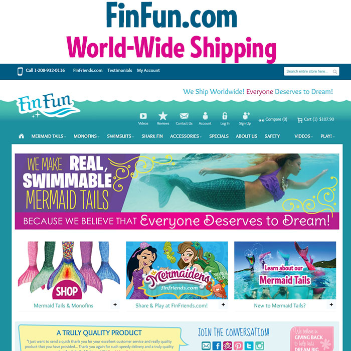 shop fin fun mermaid